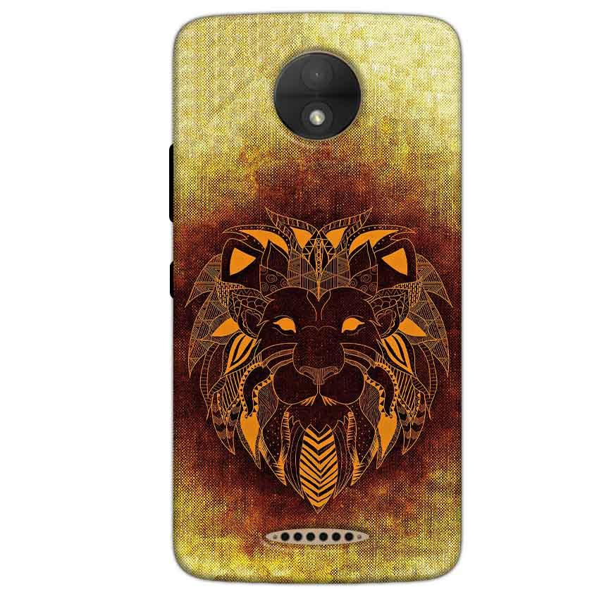 Motorola Moto C Plus Mobile Covers Cases Lion face art - Lowest Price - Paybydaddy.com