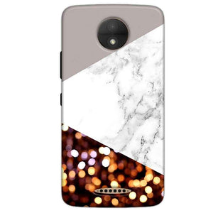 Motorola Moto C Plus Mobile Covers Cases MARBEL GLITTER - Lowest Price - Paybydaddy.com
