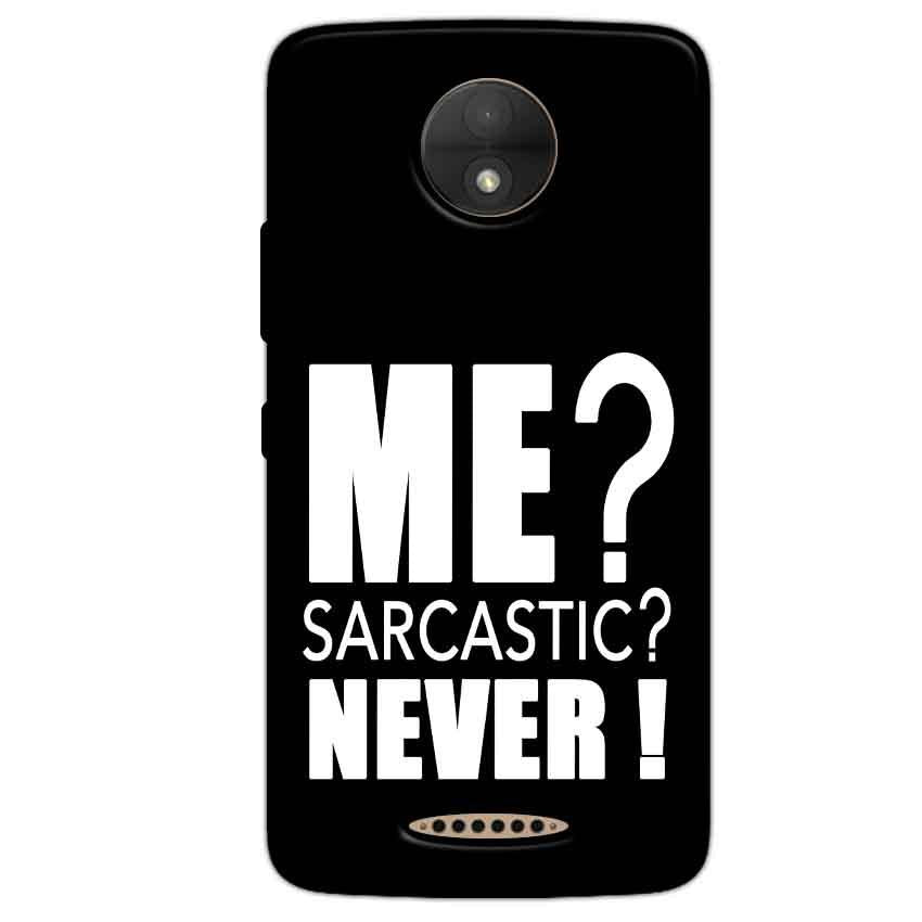 Motorola Moto C Plus Mobile Covers Cases Me sarcastic - Lowest Price - Paybydaddy.com