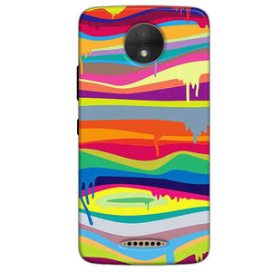 Motorola Moto C Plus Mobile Covers Cases Melted colours - Lowest Price - Paybydaddy.com