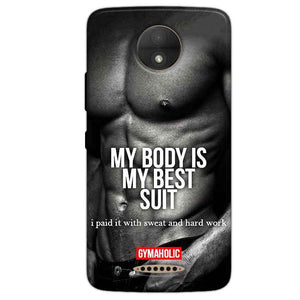 Motorola Moto C Plus Mobile Covers Cases My Body is my best suit - Lowest Price - Paybydaddy.com