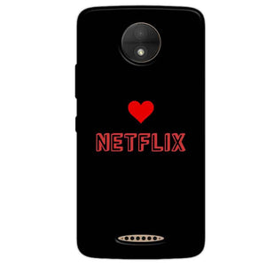 Motorola Moto C Plus Mobile Covers Cases NETFLIX WITH HEART - Lowest Price - Paybydaddy.com