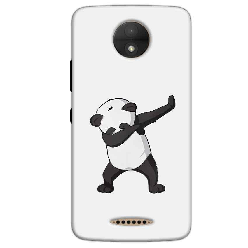 Motorola Moto C Plus Mobile Covers Cases Panda Dab - Lowest Price - Paybydaddy.com