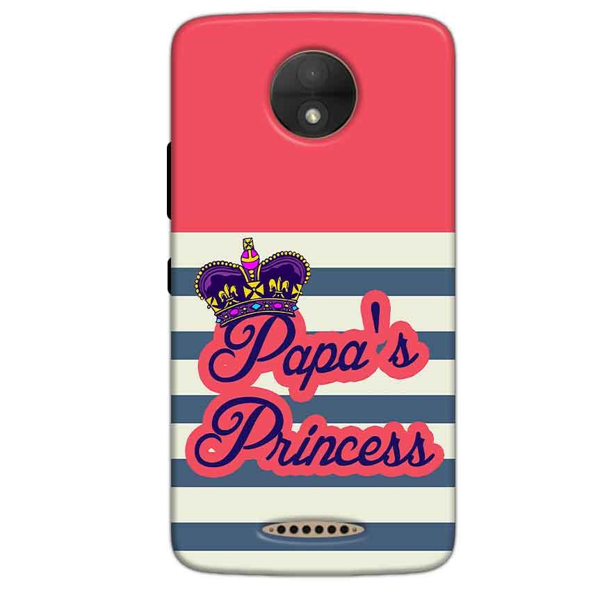 Motorola Moto C Plus Mobile Covers Cases Papas Princess - Lowest Price - Paybydaddy.com