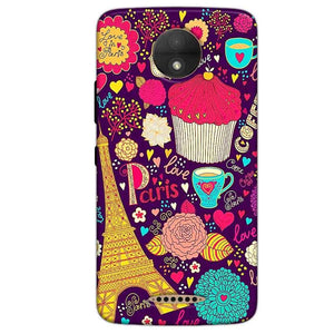 Motorola Moto C Plus Mobile Covers Cases Paris Sweet love - Lowest Price - Paybydaddy.com