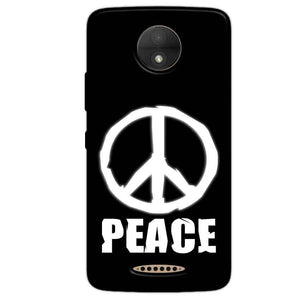 Motorola Moto C Plus Mobile Covers Cases Peace Sign In White - Lowest Price - Paybydaddy.com