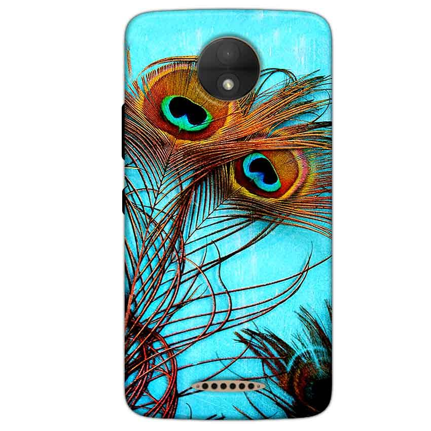 Motorola Moto C Plus Mobile Covers Cases Peacock blue wings - Lowest Price - Paybydaddy.com