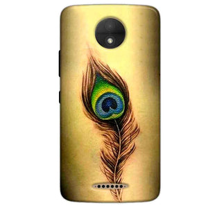 Motorola Moto C Plus Mobile Covers Cases Peacock coloured art - Lowest Price - Paybydaddy.com