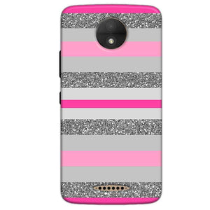 Motorola Moto C Plus Mobile Covers Cases Pink colour pattern - Lowest Price - Paybydaddy.com