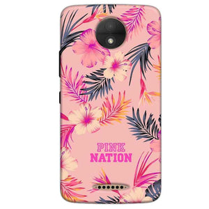 Motorola Moto C Plus Mobile Covers Cases Pink nation - Lowest Price - Paybydaddy.com