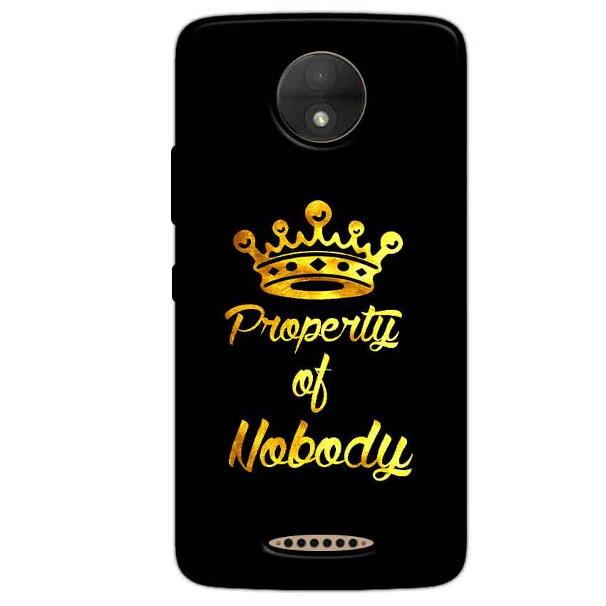 Motorola Moto C Plus Mobile Covers Cases Property of nobody with Crown - Lowest Price - Paybydaddy.com