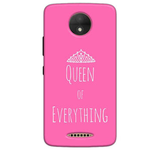 Motorola Moto C Plus Mobile Covers Cases Queen Of Everything Pink White - Lowest Price - Paybydaddy.com