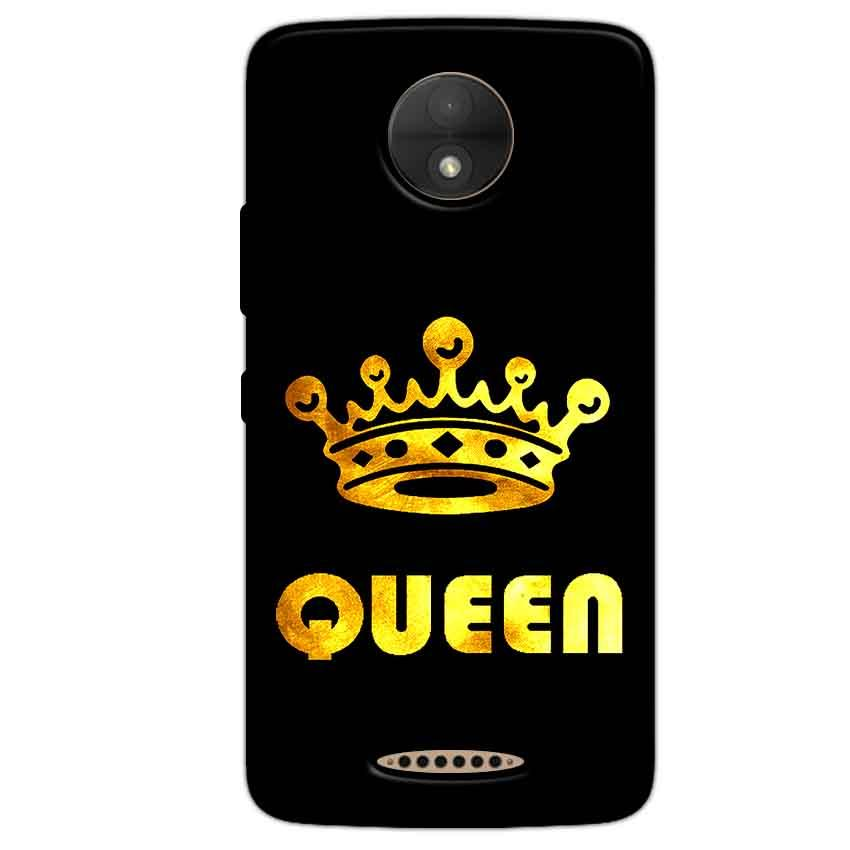 Motorola Moto C Plus Mobile Covers Cases Queen With Crown in gold - Lowest Price - Paybydaddy.com