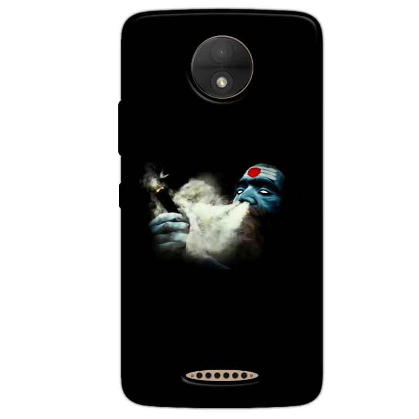 Motorola Moto C Plus Mobile Covers Cases Shiva Aghori Smoking - Lowest Price - Paybydaddy.com