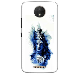 Motorola Moto C Plus Mobile Covers Cases Shiva Blue White - Lowest Price - Paybydaddy.com