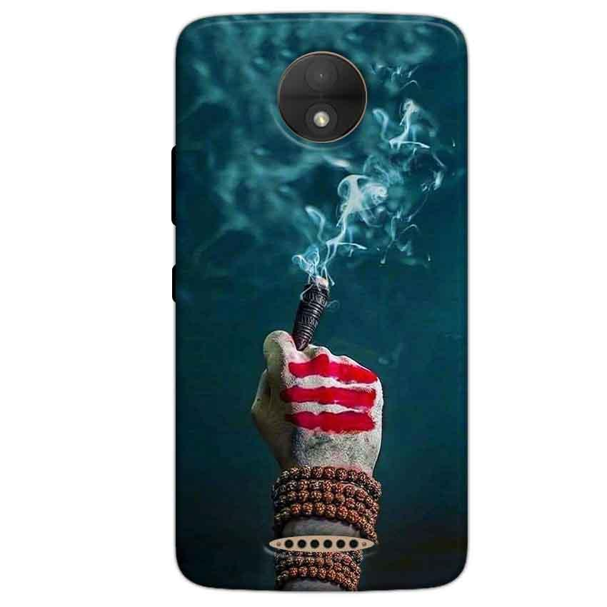 Motorola Moto C Plus Mobile Covers Cases Shiva Hand With Clilam - Lowest Price - Paybydaddy.com