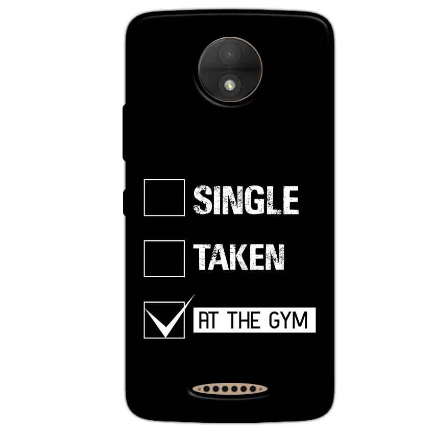 Motorola Moto C Plus Mobile Covers Cases Single Taken At The Gym - Lowest Price - Paybydaddy.com