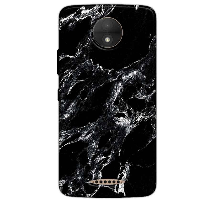 Motorola Moto C Mobile Covers Cases Pure Black Marble Texture - Lowest Price - Paybydaddy.com