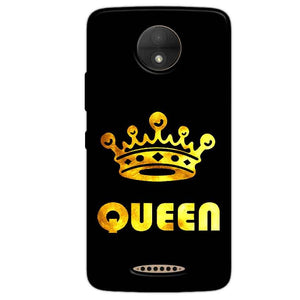 Motorola Moto C Mobile Covers Cases Queen With Crown in gold - Lowest Price - Paybydaddy.com