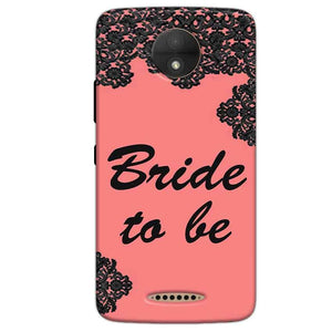 Motorola Moto C Mobile Covers Cases Mobile Covers Cases bride to be with ring Black Pink - Lowest Price - Paybydaddy.com