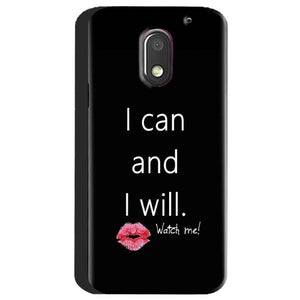 Motorola Moto E3 Power Mobile Covers Cases i can and i will Lips - Lowest Price - Paybydaddy.com