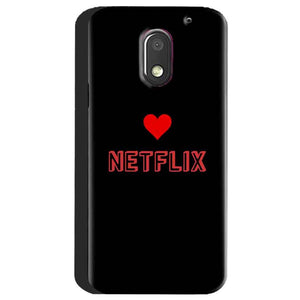 Motorola Moto E3 Power Mobile Covers Cases NETFLIX WITH HEART - Lowest Price - Paybydaddy.com