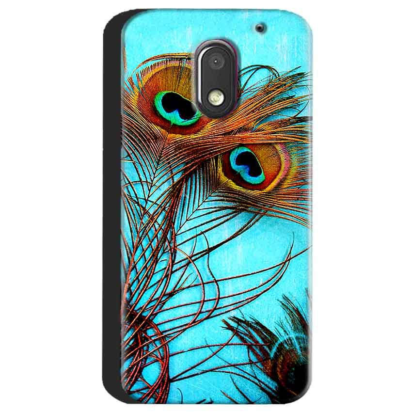 Motorola Moto E3 Power Mobile Covers Cases Peacock blue wings - Lowest Price - Paybydaddy.com