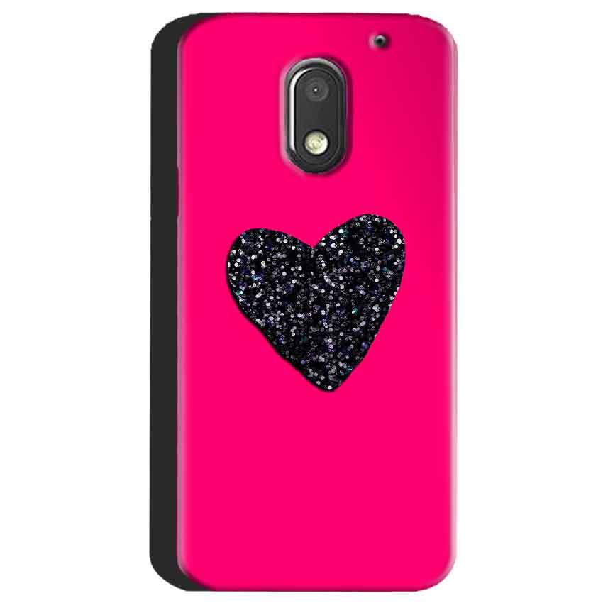 Motorola Moto E3 Power Mobile Covers Cases Pink Glitter Heart - Lowest Price - Paybydaddy.com