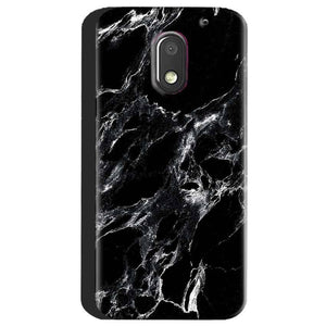 Motorola Moto E3 Power Mobile Covers Cases Pure Black Marble Texture - Lowest Price - Paybydaddy.com