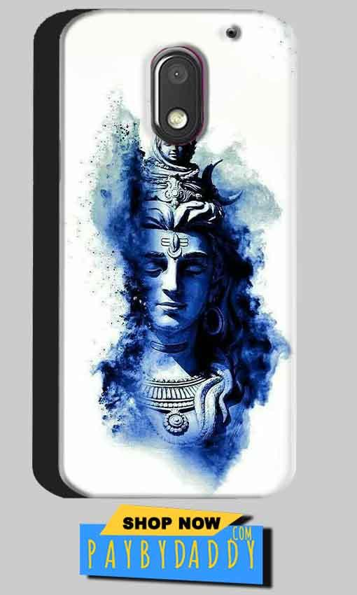 Motorola Moto E3 Power Mobile Covers Cases Shiva Blue White - Lowest Price - Paybydaddy.com