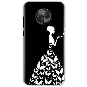 Motorola Moto E4 Mobile Covers Cases Butterfly black girl - Lowest Price - Paybydaddy.com