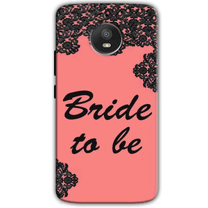 Motorola Moto E4 Plus Mobile Covers Cases Mobile Covers Cases bride to be with ring Black Pink - Lowest Price - Paybydaddy.com