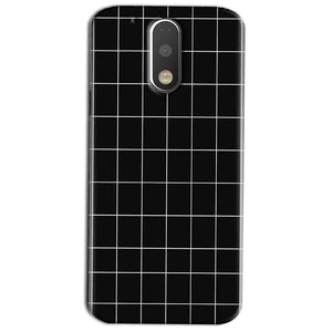 Motorola Moto G4 Play Mobile Covers Cases Black with White Checks - Lowest Price - Paybydaddy.com