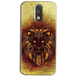 Motorola Moto G4 Play Mobile Covers Cases Lion face art - Lowest Price - Paybydaddy.com