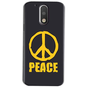 Motorola Moto G4 Play Mobile Covers Cases Peace Blue Yellow - Lowest Price - Paybydaddy.com