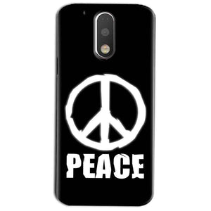 Motorola Moto G4 Play Mobile Covers Cases Peace Sign In White - Lowest Price - Paybydaddy.com