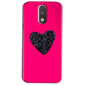 Motorola Moto G4 Play Mobile Covers Cases Pink Glitter Heart - Lowest Price - Paybydaddy.com