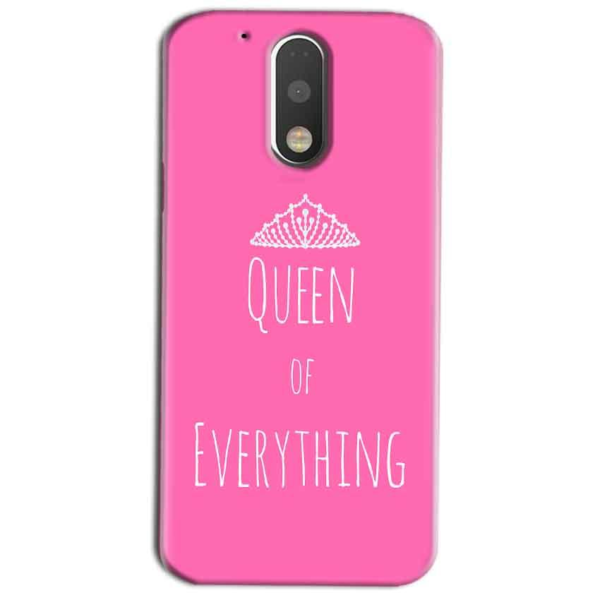 Motorola Moto G4 Play Mobile Covers Cases Queen Of Everything Pink White - Lowest Price - Paybydaddy.com
