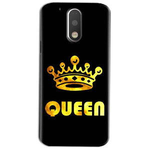 Motorola Moto G4 Play Mobile Covers Cases Queen With Crown in gold - Lowest Price - Paybydaddy.com