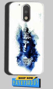 Motorola Moto G4 Play Mobile Covers Cases Shiva Blue White - Lowest Price - Paybydaddy.com