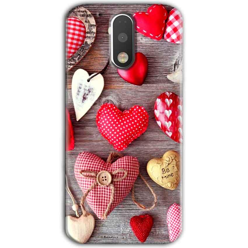 Motorola Moto G4 Plus Mobile Covers Cases Hearts- Lowest Price - Paybydaddy.com