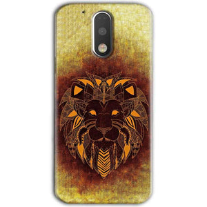 Motorola Moto G4 Plus Mobile Covers Cases Lion face art - Lowest Price - Paybydaddy.com