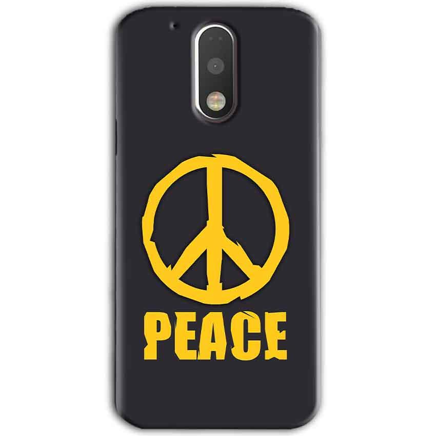 Motorola Moto G4 Plus Mobile Covers Cases Peace Blue Yellow - Lowest Price - Paybydaddy.com