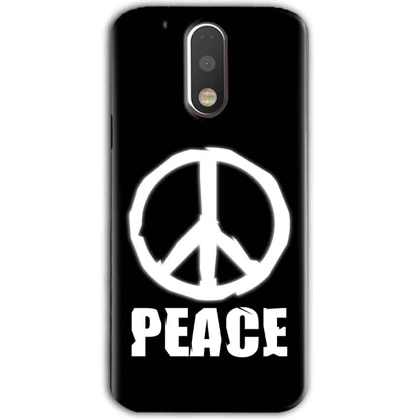 Motorola Moto G4 Plus Mobile Covers Cases Peace Sign In White - Lowest Price - Paybydaddy.com