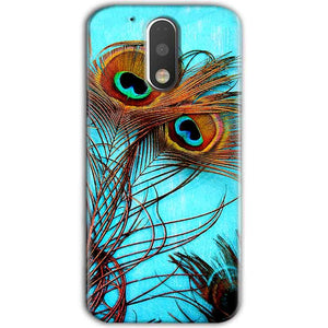 Motorola Moto G4 Plus Mobile Covers Cases Peacock blue wings - Lowest Price - Paybydaddy.com