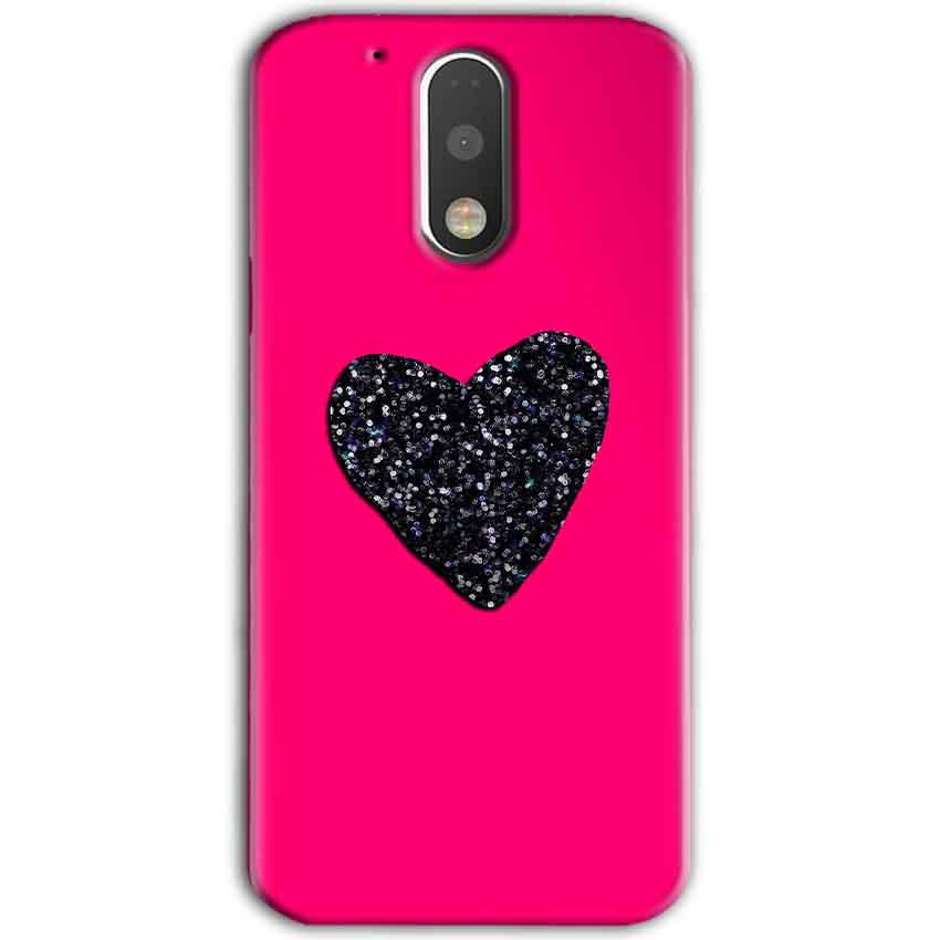 Motorola Moto G4 Plus Mobile Covers Cases Pink Glitter Heart - Lowest Price - Paybydaddy.com
