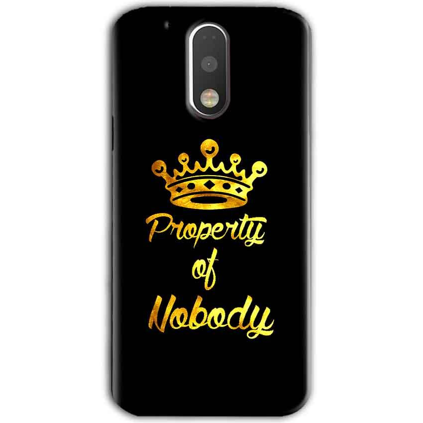 Motorola Moto G4 Plus Mobile Covers Cases Property of nobody with Crown - Lowest Price - Paybydaddy.com
