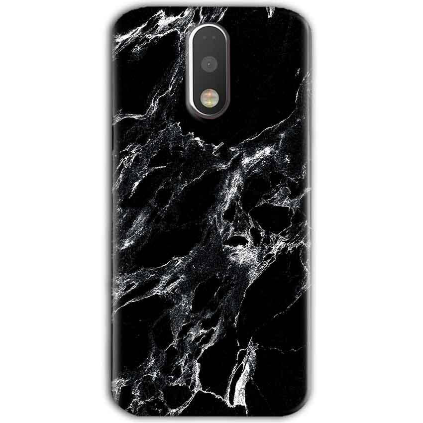 Motorola Moto G4 Plus Mobile Covers Cases Pure Black Marble Texture - Lowest Price - Paybydaddy.com