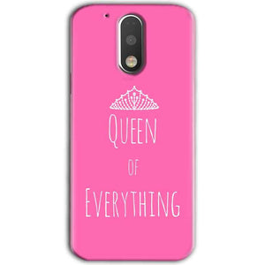 Motorola Moto G4 Plus Mobile Covers Cases Queen Of Everything Pink White - Lowest Price - Paybydaddy.com
