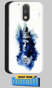 Motorola Moto G4 Plus Mobile Covers Cases Shiva Blue White - Lowest Price - Paybydaddy.com